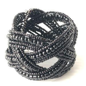 💕 5/$10 Black Bead Memory Bracelet